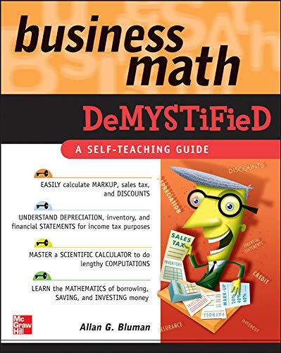 9780071464703: Business Math Demystified