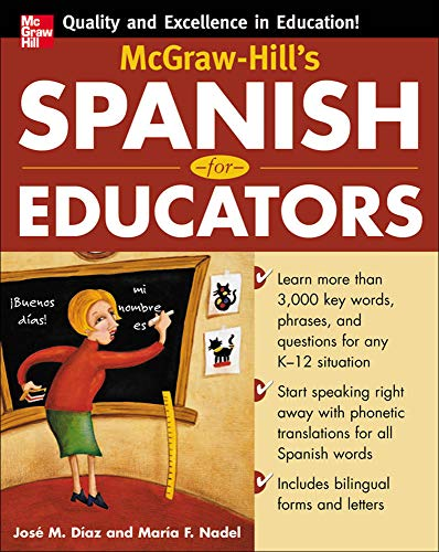 McGraw-Hill's Spanish for Educators (Book Only): Jose Diaz, Mar?a