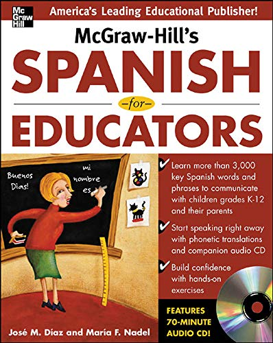 9780071464918: McGraw-Hill's Spanish for Educators w/Audio CD