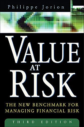 Value at Risk: Philippe, Jorion; Jorion, Philippe