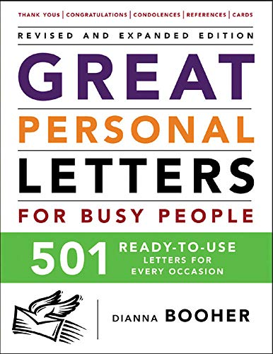 9780071464987: Great Personal Letters for Busy People: 501 Ready-to-Use Letters for Every Occasion