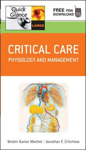9780071465403: Critical Care Quick Glance: Physiology and Management