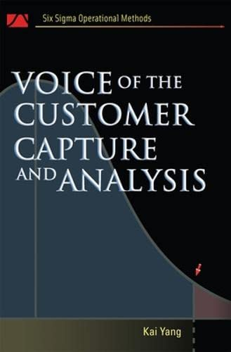 9780071465441: Voice of the Customer: Capture and Analysis (Six SIGMA Operational Methods)
