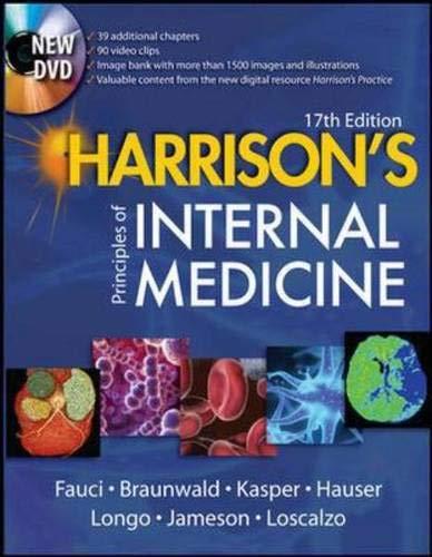 9780071466332: Harrison's Principles of Internal Medicine, 17th Edition (Single Volume Edition)