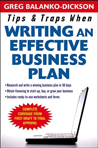 9780071467513: Tips and Traps For Writing an Effective Business Plan