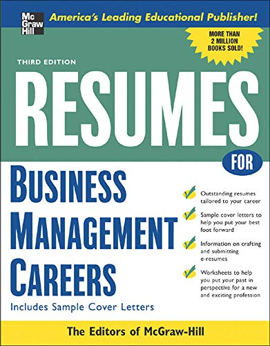 9780071467803: Resumes for Business Management Careers (McGraw-Hill Professional Resumes)