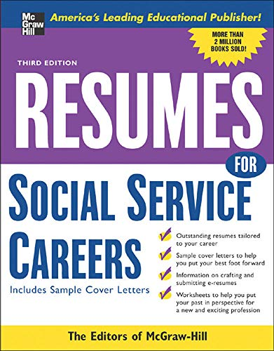 Resumes for Social Service Careers (9780071467810) by McGraw-Hill Education