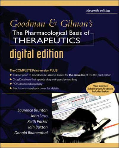 9780071468046: Goodman and Gilman's Pharmacological Basis of Therapeutics Digital Edition