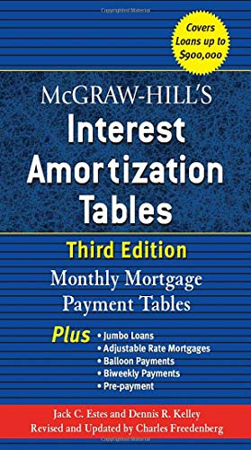 9780071468114: McGraw-Hill's Interest Amortization Tables: Monthly Mortgage Payment Tables