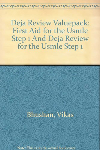 9780071468145: Deja Review Valuepack (First Aid for the USMLE Step 1 and Deja Review for the USMLE Step 1)