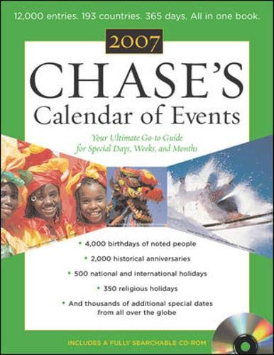 9780071468183: Chase's Calendar of Events 2007 w/CD ROM