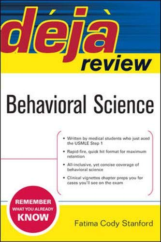 9780071468688: Deja Review: Behavioral Science