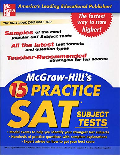 9780071468961: McGraw-Hill's 15 Practice SAT Subject Tests