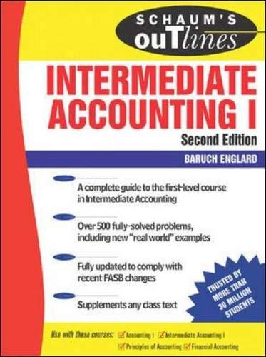 9780071469739: Schaum's Outline of Intermediate Accounting I, Second Edition (Schaum's Outlines)