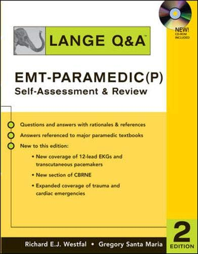 9780071470148: Lange Q & A: EMT-Paramedic (P) Self Assessment and Review, Second Edition: Self-Assessment and Review