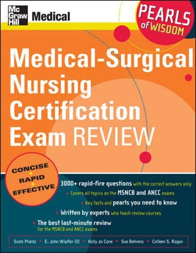 9780071470407: Medical-Surgical Nursing Certification Exam Review: Pearls of Wisdom
