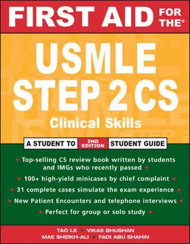 9780071470582: First Aid for the� USMLE Step 2 CS: Clinical Skills Exam (First Aid USMLE)