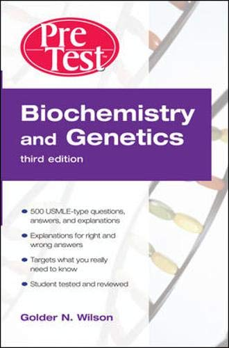 9780071471831: Biochemistry and Genetics PreTest™ Self-Assessment and Review, Third Edition (PreTest Basic Science)