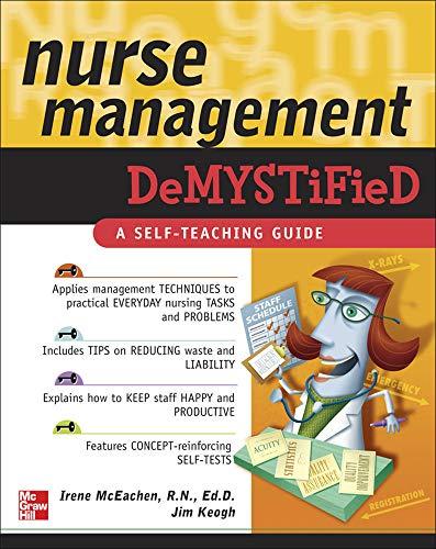 Stock Image Nurse Management Demystified