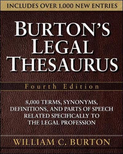 9780071472623: Burton's Legal Thesaurus, Fourth Edition