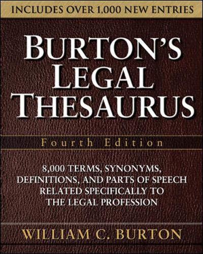 9780071472623: Burton's Legal Thesaurus, Fourth Edition