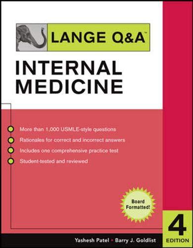 9780071473644: Lange Q&A Internal Medicine, Fourth Edition