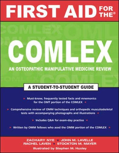 9780071473910: First Aid for the COMLEX: An Osteopathic Manipulative Medicine Reveiw (First Aid Series)