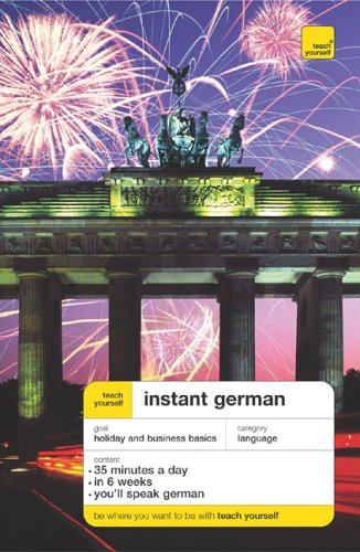 9780071474153: Teach Yourself Instant German (Book Only) (TY: Language Guides)