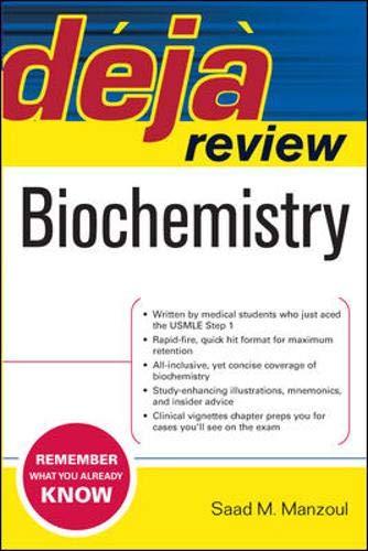 9780071474634: Deja Review Biochemistry