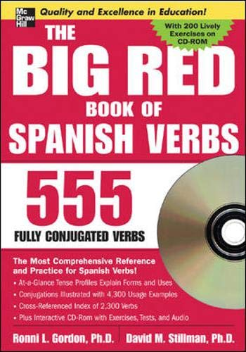 9780071474733: The Big Red Book of Spanish Verbs (Book w/CD-ROM): 555 Verbs Fully Conjugated (Big Book of Verbs Series)
