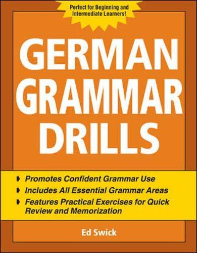 9780071475143: German Grammar Drills (Drills Series)