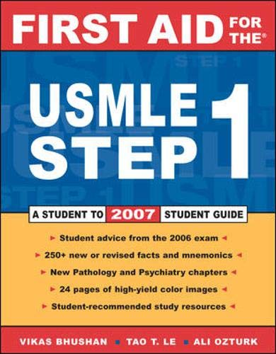9780071475310: First Aid for the USMLE Step 1: 2007
