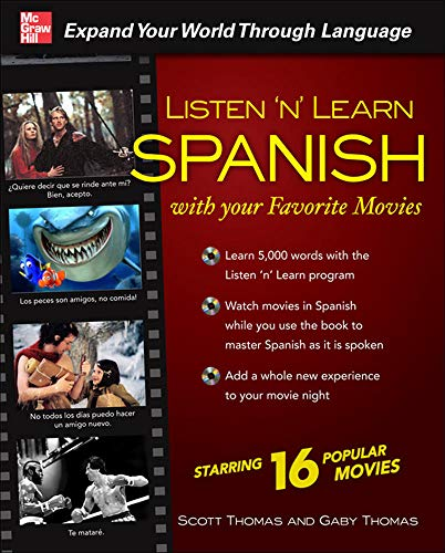 9780071475655: Listen 'n' Learn Spanish with Your Favorite Movies