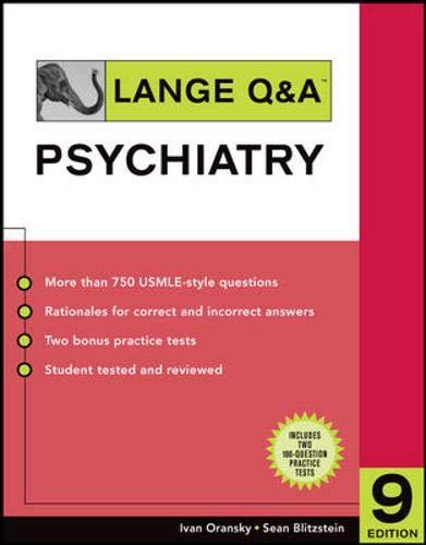 9780071475679: Lange Q & A: Psychiatry