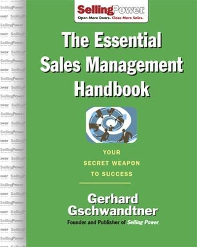 9780071476027: The Essential Sales Management Handbook: Your Secret Weapon to Success (SellingPower Library)