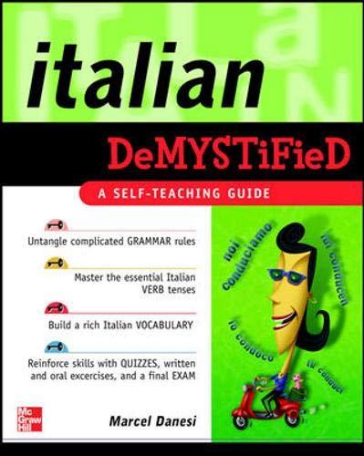 9780071476591: Italian Demystified: A Self Teaching Guide
