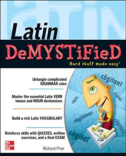 9780071477277: Latin Demystified: A Self Teaching Guide