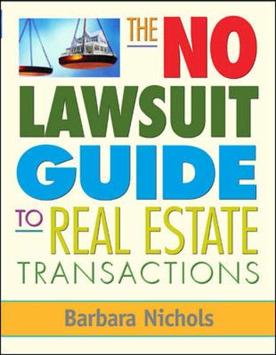 9780071477598: The No Lawsuit Guide to Real Estate Transactions