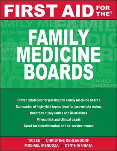 9780071477710: First Aid for the Family Medicine Boards (FIRST AID Specialty Boards)