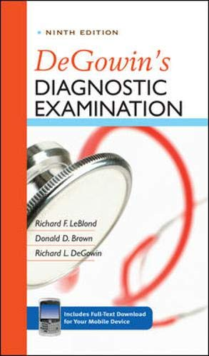 9780071478984: DeGowin's Diagnostic Examination, Ninth Edition