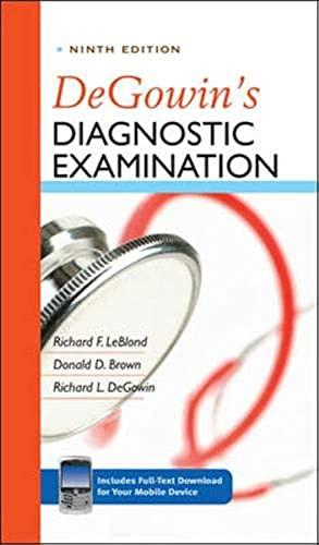 9780071478984: DeGowin's Diagnostic Examination, Ninth Edition