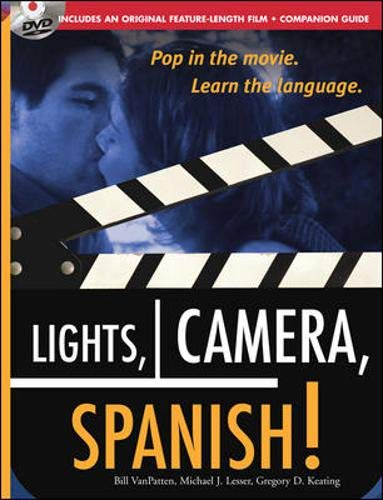 9780071479028: Lights, Camera, Spanish (Book + DVD): Learn Conversational Spanish by Watching a Romantic Adventure