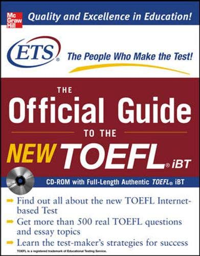 9780071481045: The Official Guide to the New TOEFL iBT with CD-ROM (Book & CD)