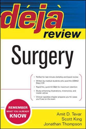 9780071481144: Deja Review Surgery