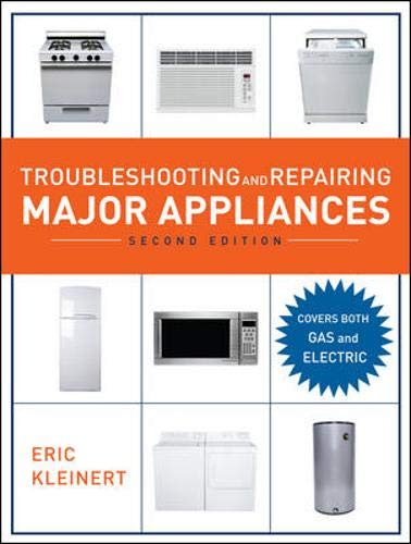 Troubleshooting and Repairing Major Appliances, 2nd Ed. 9780071481489 Use the Latest Tools and Techniques to Troubleshoot and Repair Major Appliances, Microwaves, and Room Air Conditioners! Now covering both gas and electric appliances, the updated second edition of Troubleshooting and Repairing Major Appliances offers you a complete guide to the latest tools, techniques, and parts for troubleshooting and repairing any appliance. Packed with over 200 illustrations, the book includes step-by-step procedures for testing and replacing parts... instructions for reading wiring diagrams... charts with troubleshooting solutions... advice on using tools and test meters... safety techniques... and more. The second edition of Troubleshooting and Repairing Major Appliances features: Expert coverage of major appliances Cutting-edge guidance on appliance operation, testing and repairing, wiring, preventive maintenance, and tools and test meters New to this edition: information on both gas and electric appliances; 10 entirely new chapters; new illustrations throughout Inside This Updated Troubleshooting and Repair Manual · Fundamentals of Service: Selection, Purchase, and Installation of Appliances and Air Conditioners · Safety Precautions · Tools for Installation and Repair · Basic Techniques · Fundamentals of Electric, Electronic, and Gas Appliances, and Room Air Conditioners: Electricity · Electronics · Gas · Principles of Air Conditioning and Refrigeration · Electric, Electronic, and Gas Appliance Parts · Appliance Service, Installation, and Preventive Maintenance Procedures: Dishwashers · Garbage Disposers · Electric and Gas Water Heaters · Washers · Electric and Gas Dryers · Electric and Gas Ranges/Ovens · Microwave Ovens · Refrigerators and Freezers · Ice Makers · Room Air Conditioners
