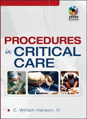 Procedures in Critical Care: C. William Hanson, III