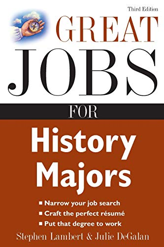 9780071482134: Great Jobs for History Majors (Great Jobs for ... Majors (Paperback))