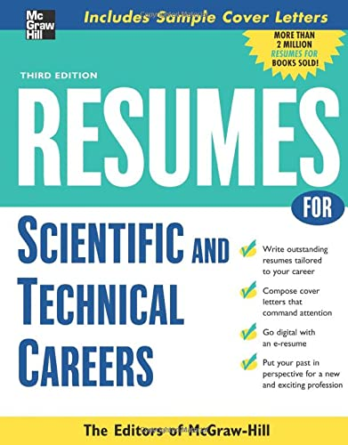 9780071482196: Resumes for Scientific and Technical Careers (McGraw-Hill Professional Resumes)