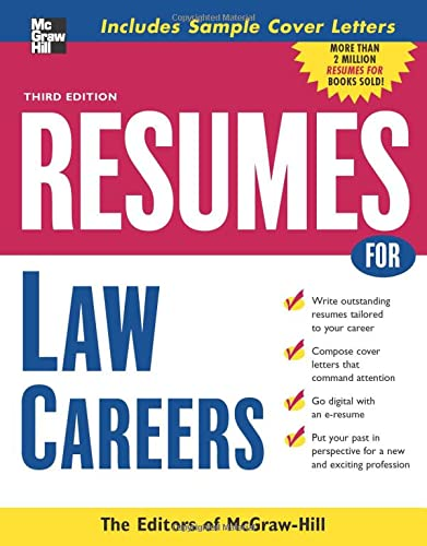 9780071482202: Resumes for Law Careers (McGraw-Hill Professional Resumes)