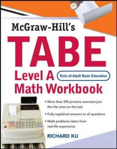 9780071482547: TABE (Test of Adult Basic Education) Level A Math Workbook: The First Step to Lifelong Success